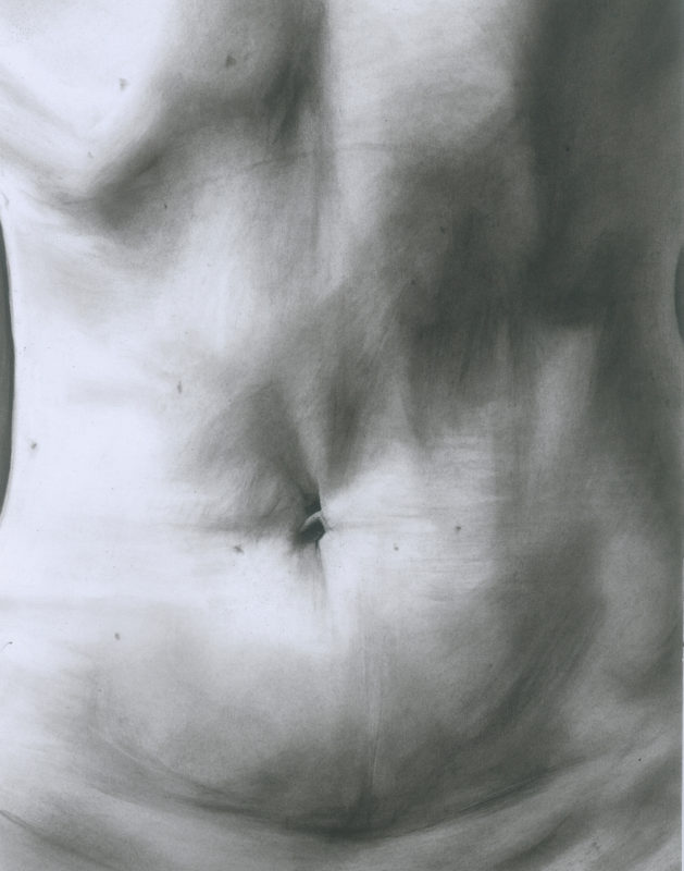 Belly Charcoal drawing