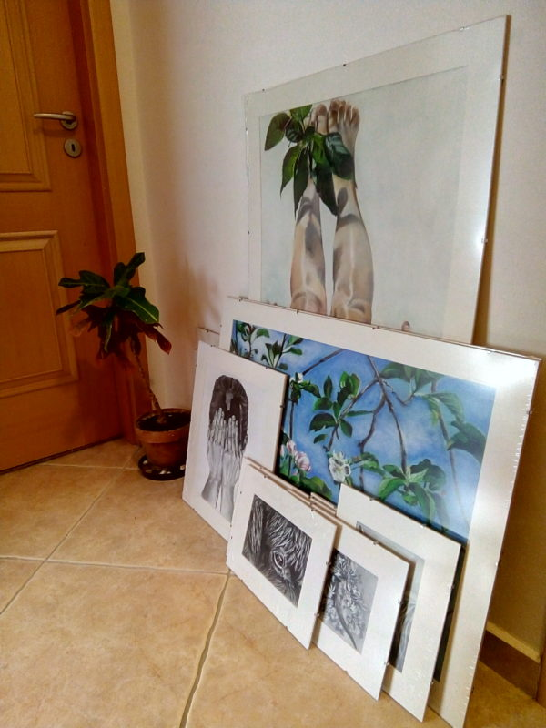 Artworks prepared for installation