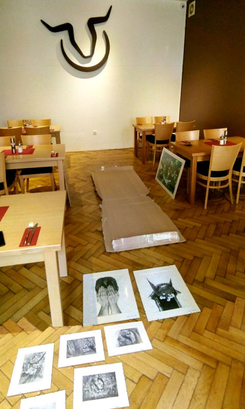 Artworks preparation for installation