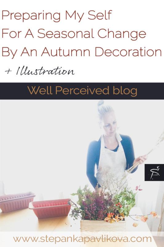 woman making decoration