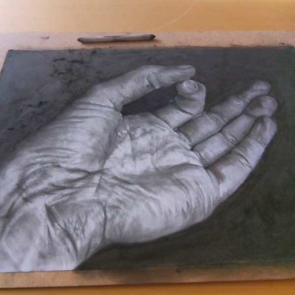 black and white hand drawing