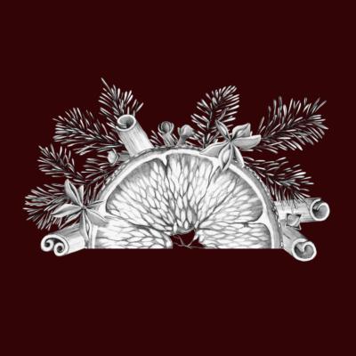 Mulled wine ingredients illustration