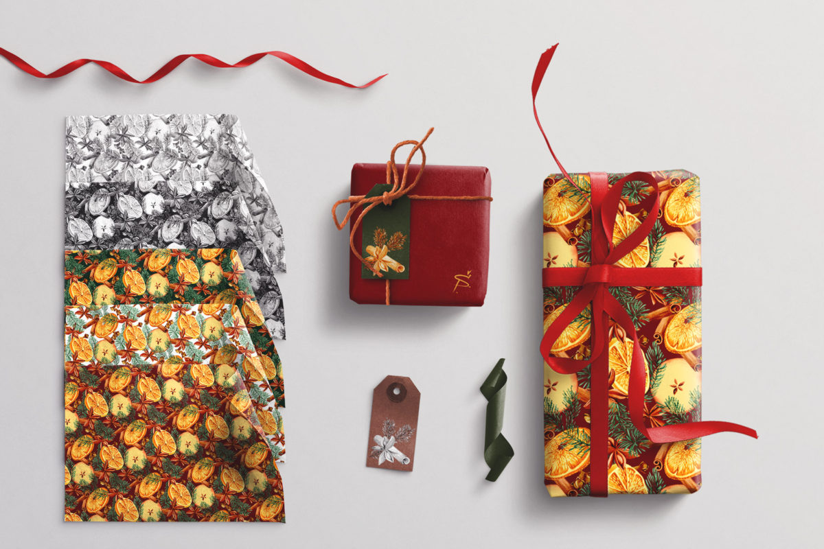 Gifts wrapping illustration